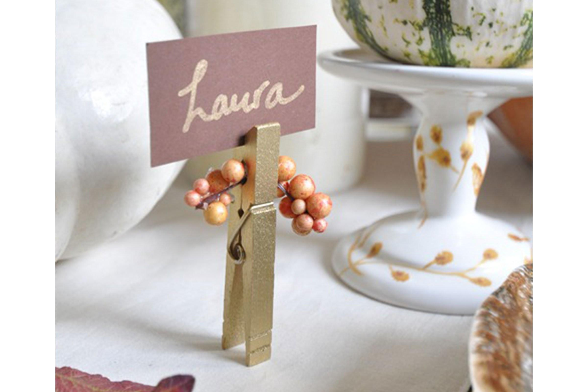 Thanksgiving Place Cards Diy Holiday Reader Digest