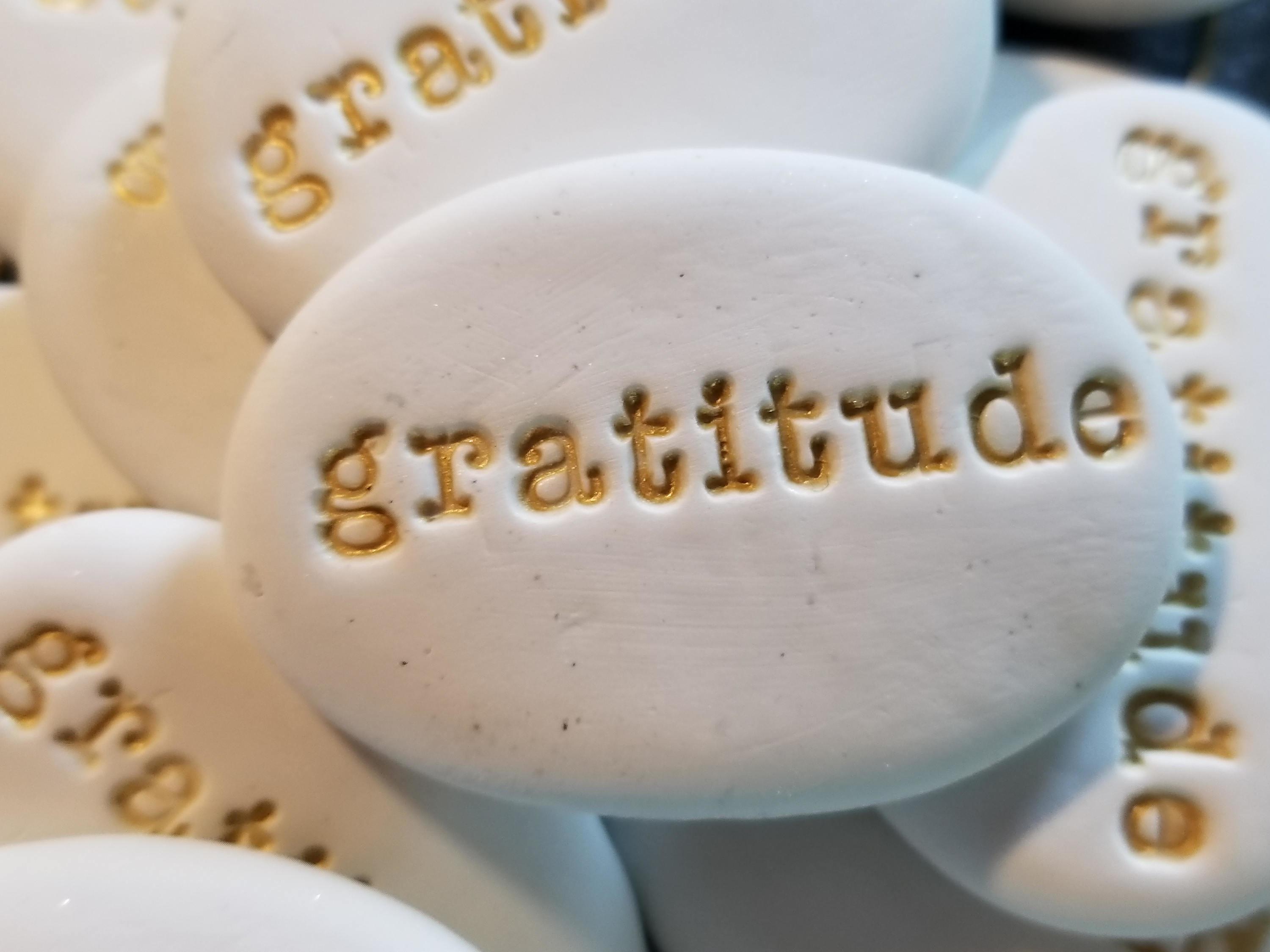 Thanksgiving Placement Gratitude Stones Fall Table