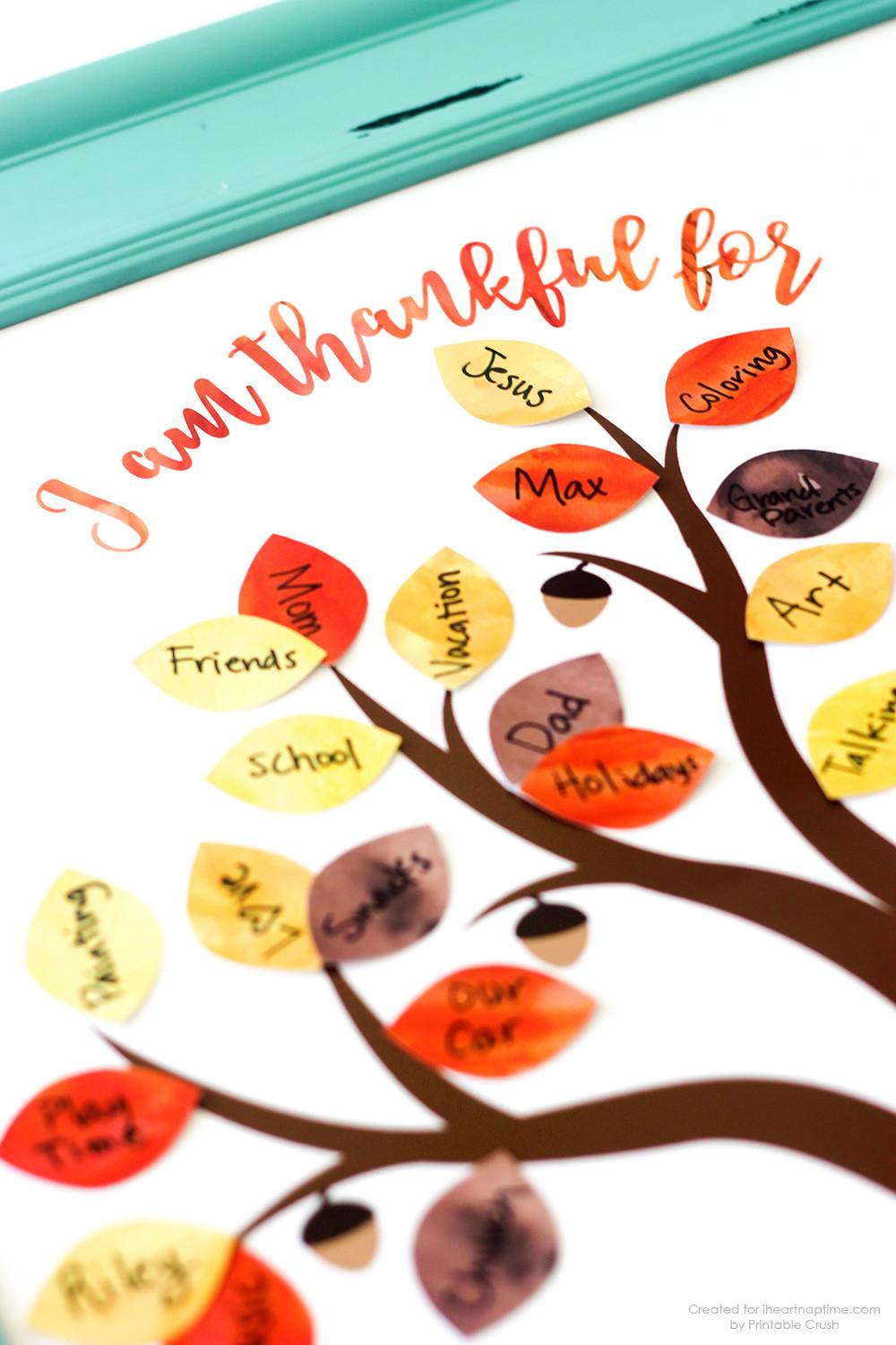 Thanksgiving Printable Thankful Tree Heart Nap Time