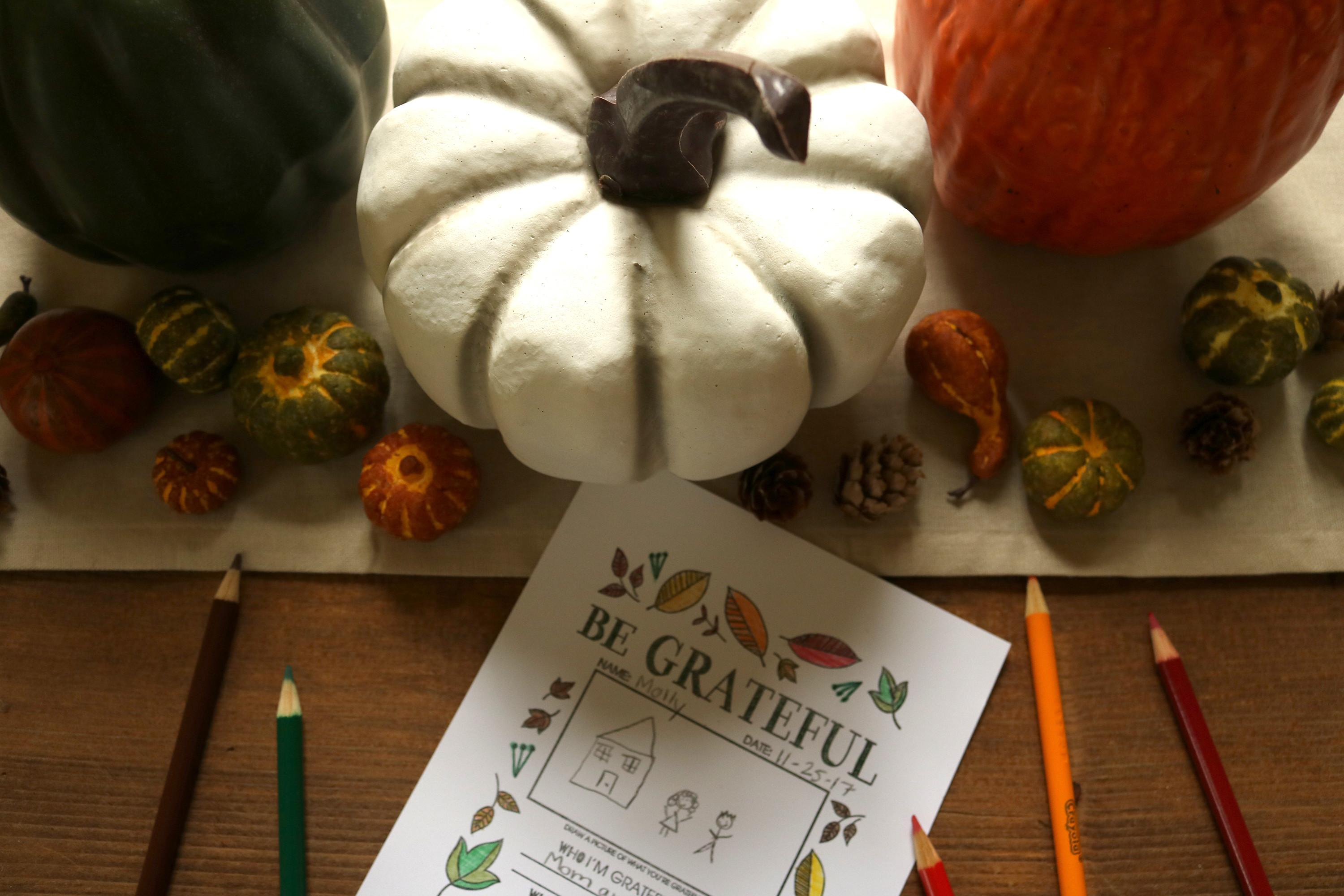 Thanksgiving Stamped Coloring Rubberstamps