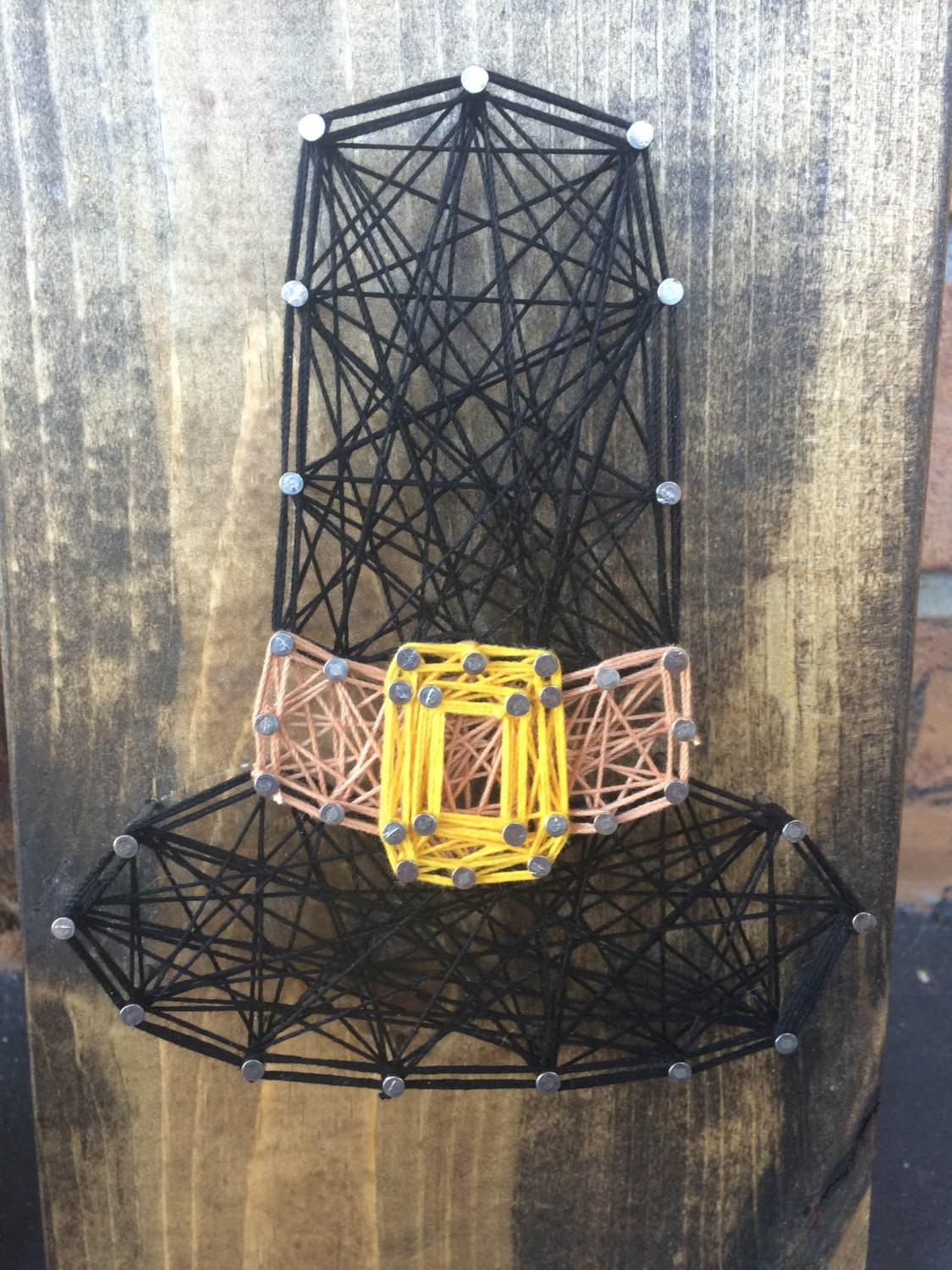 Thanksgiving String Art Pilgrim Hat