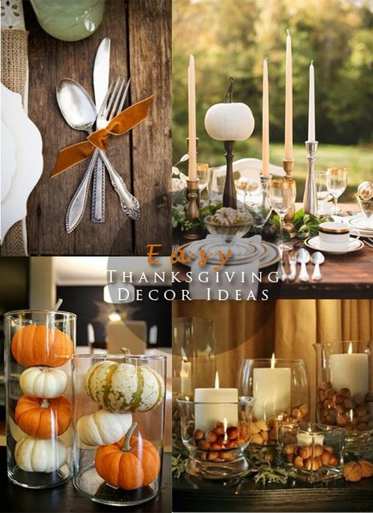 Thanksgiving Table Decoration Ideas Photograph