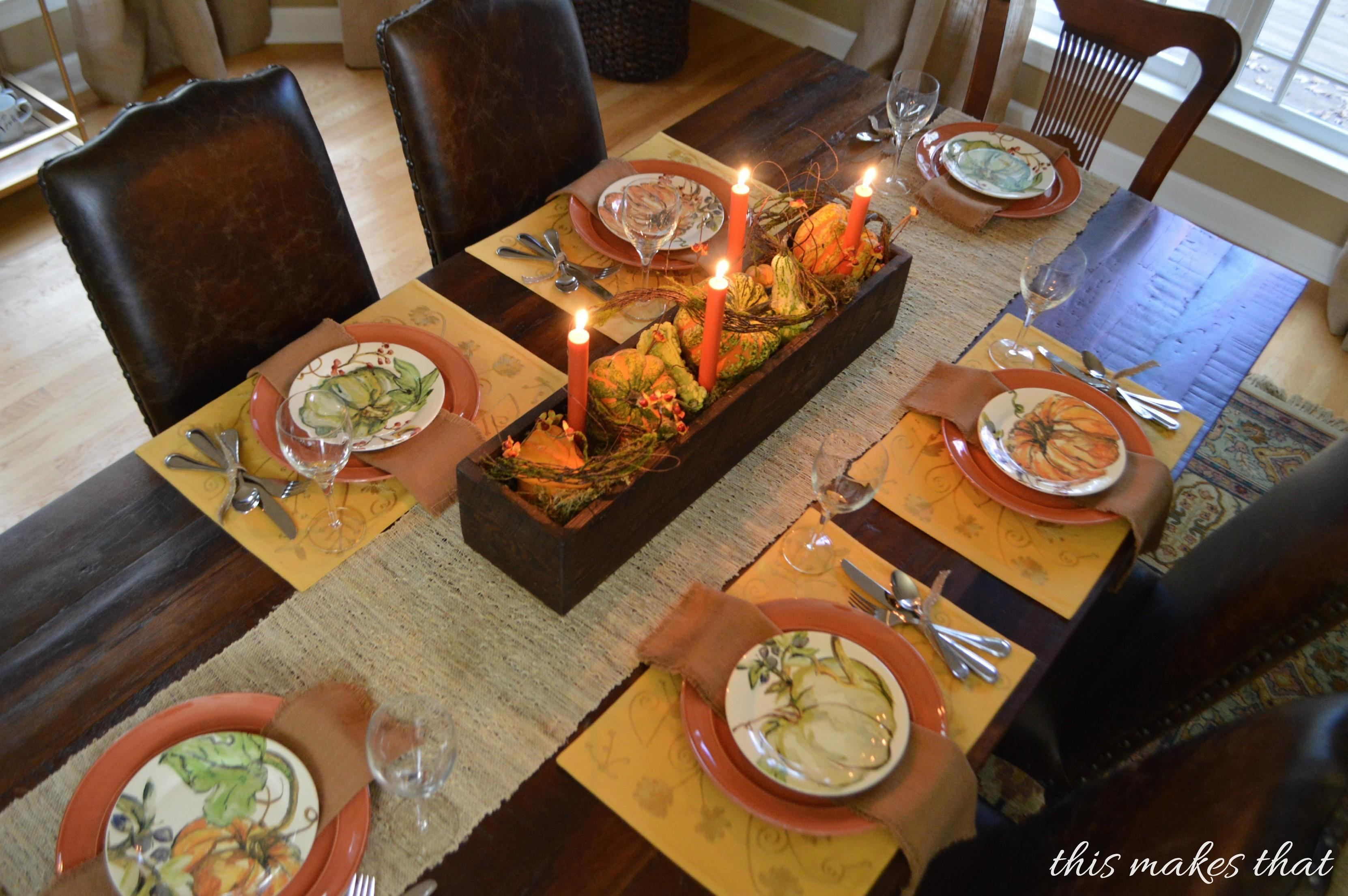 Thanksgiving Table Setting Ideas Makes