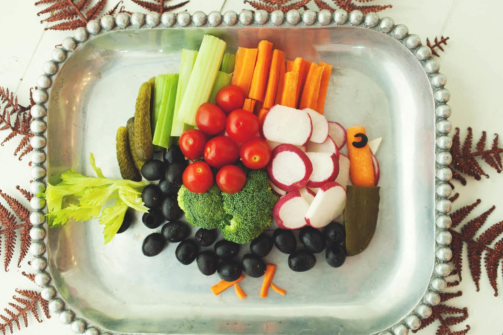 Thanksgiving Turkey Veggie Tray Produce Mom