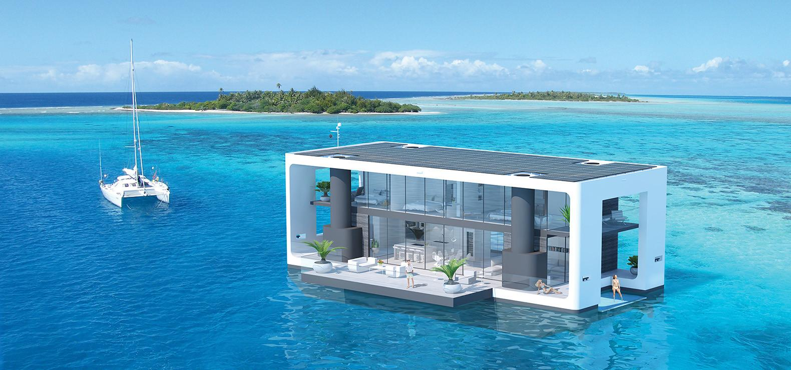 These Hurricane Proof Floating Homes Packed Green