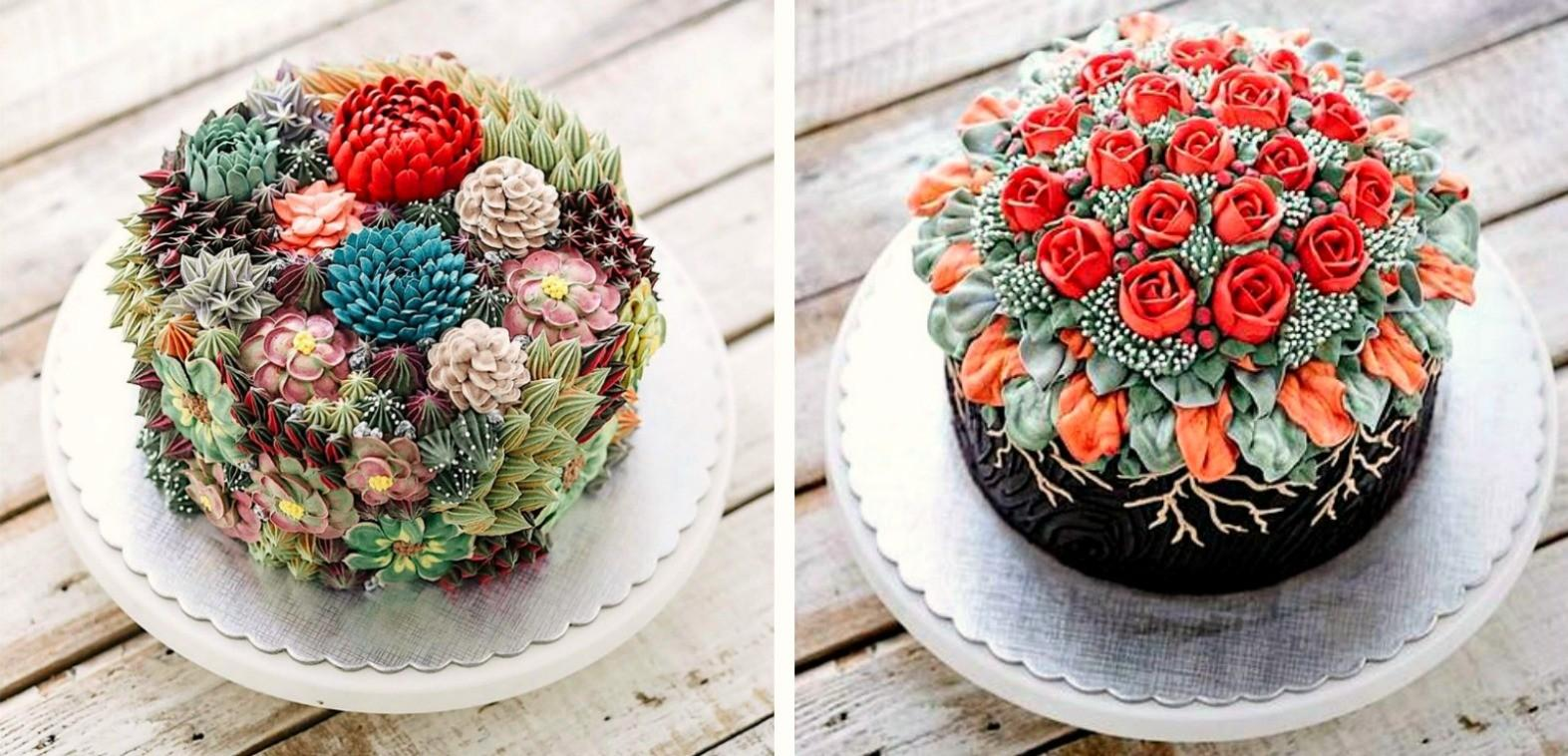 These Incredibly Lifelike Succulent Cakes Blow Your