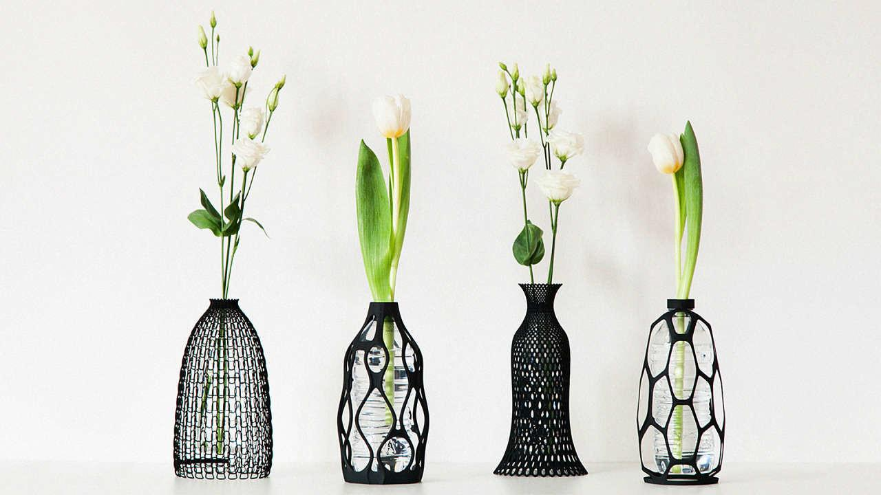 These Printed Vases Give Plastic Bottles Second Life