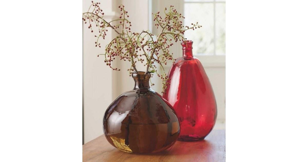 These Recycled Glass Balloon Vases Each