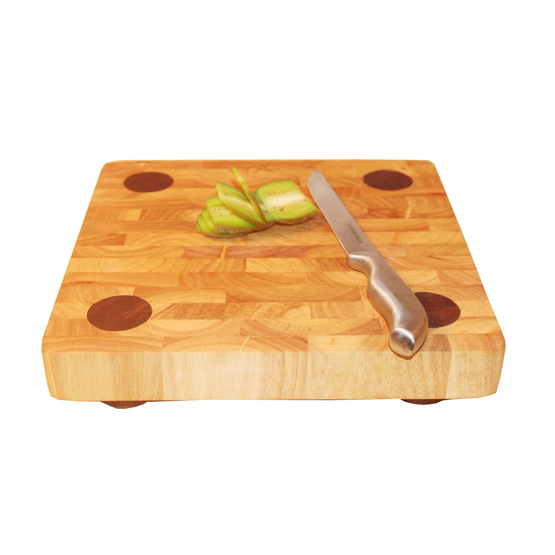 Thick Solid Wood Cutting Board Block Chopping