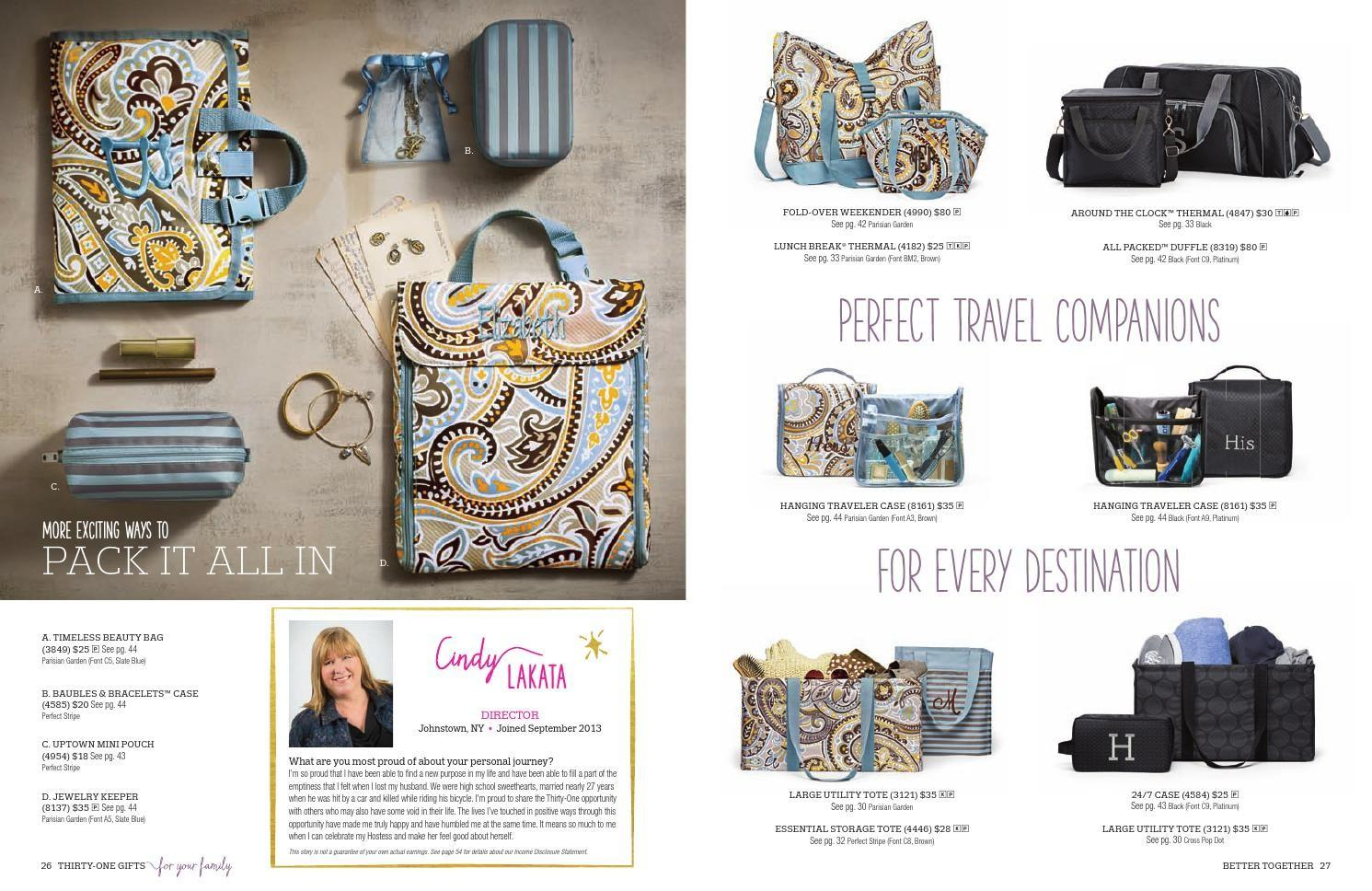 Thirty One Gifts Fall Winter 2015 Catalog Sarah Post Krug