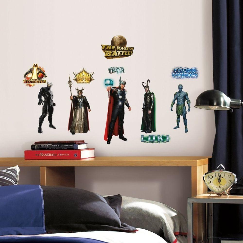 Thor Movie Marvel Avengers Wall Decals Stickers Room