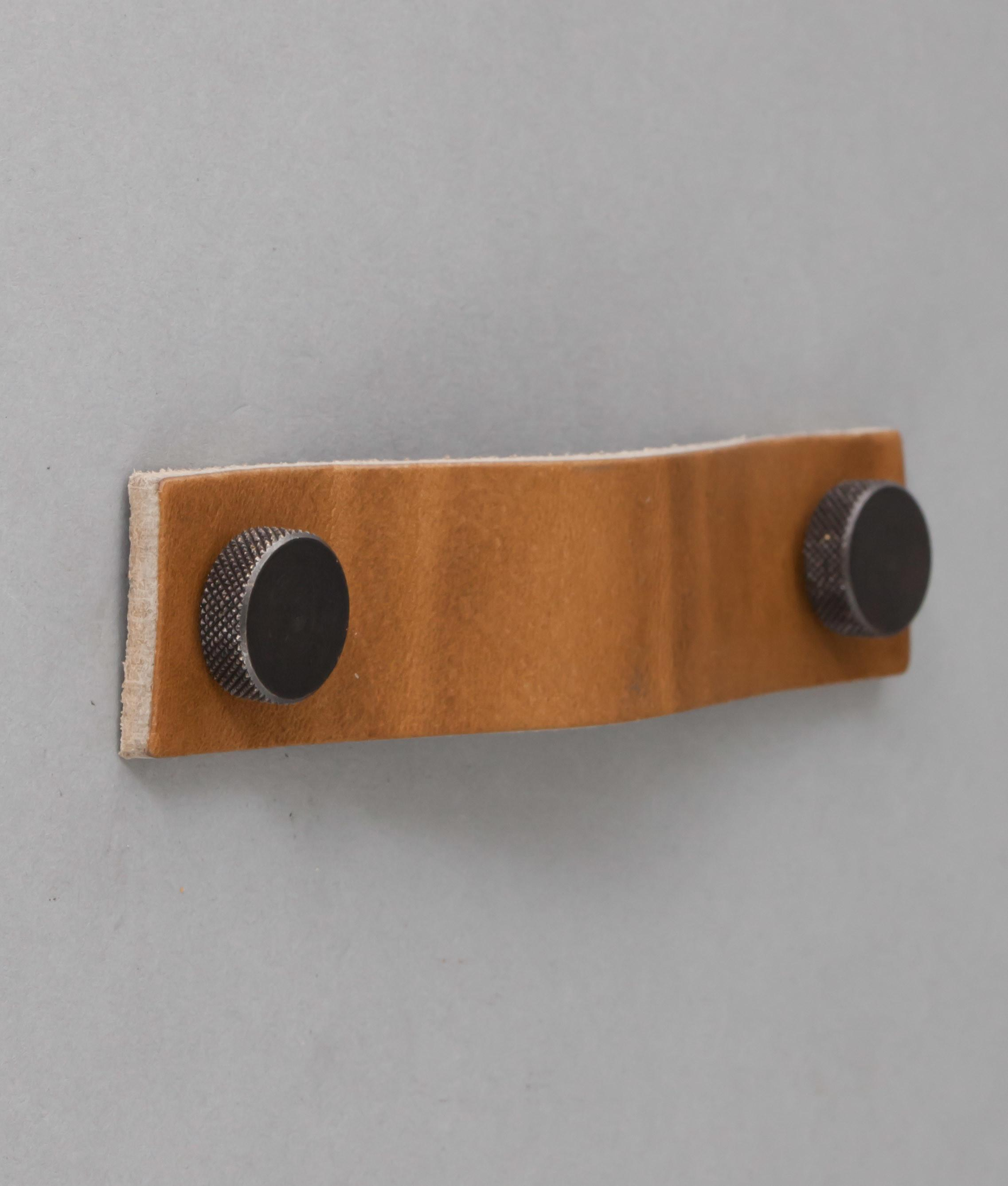 Thor Raw Umber Leather Kitchen Door Handles Tan Drawer Pull