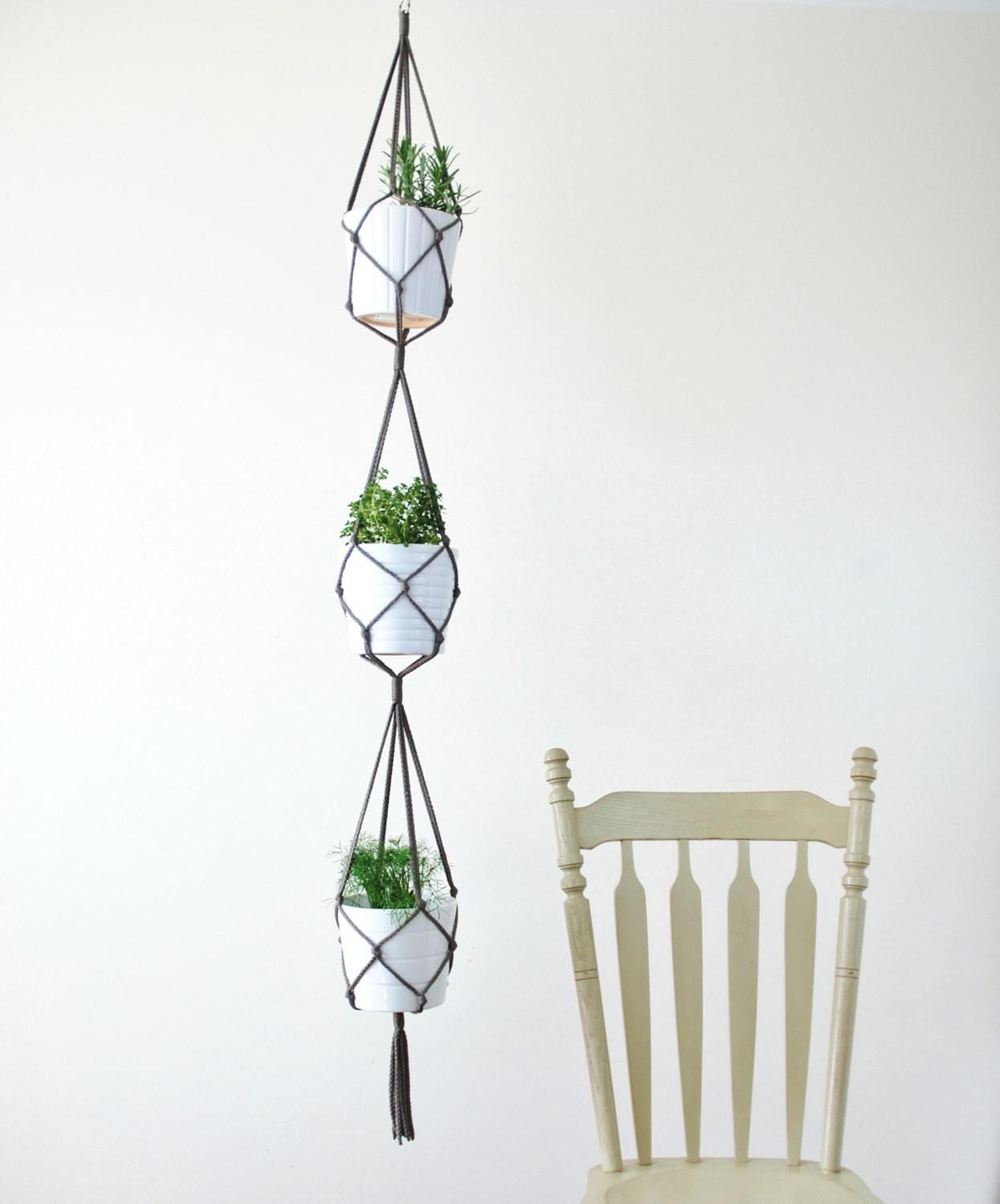 Three Tiered Macrame Plant Hanger Simple Hanging