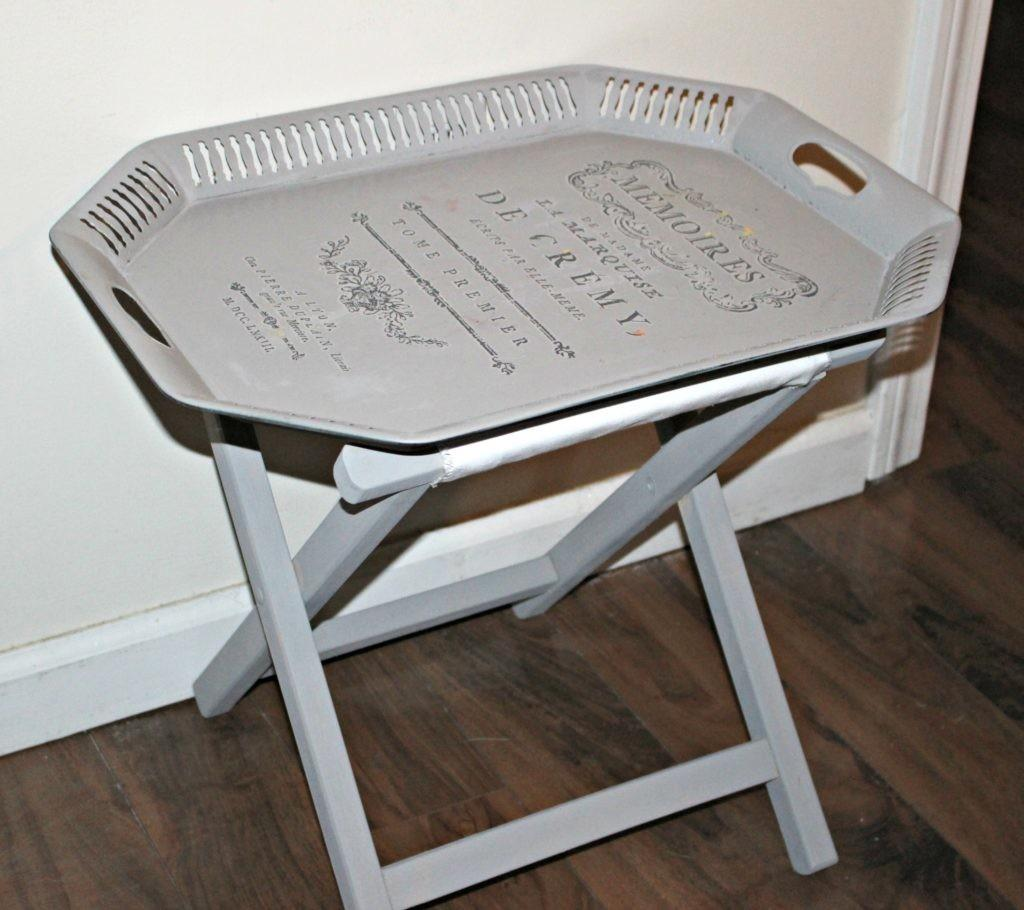 Thrift Store Decor Upcycle Side Table Serving Tray Our