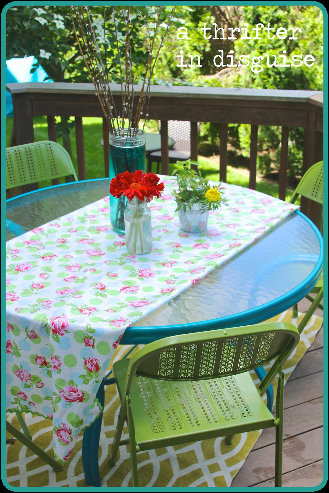 Thrifter Disguise Diy Metal Folding Patio Chairs