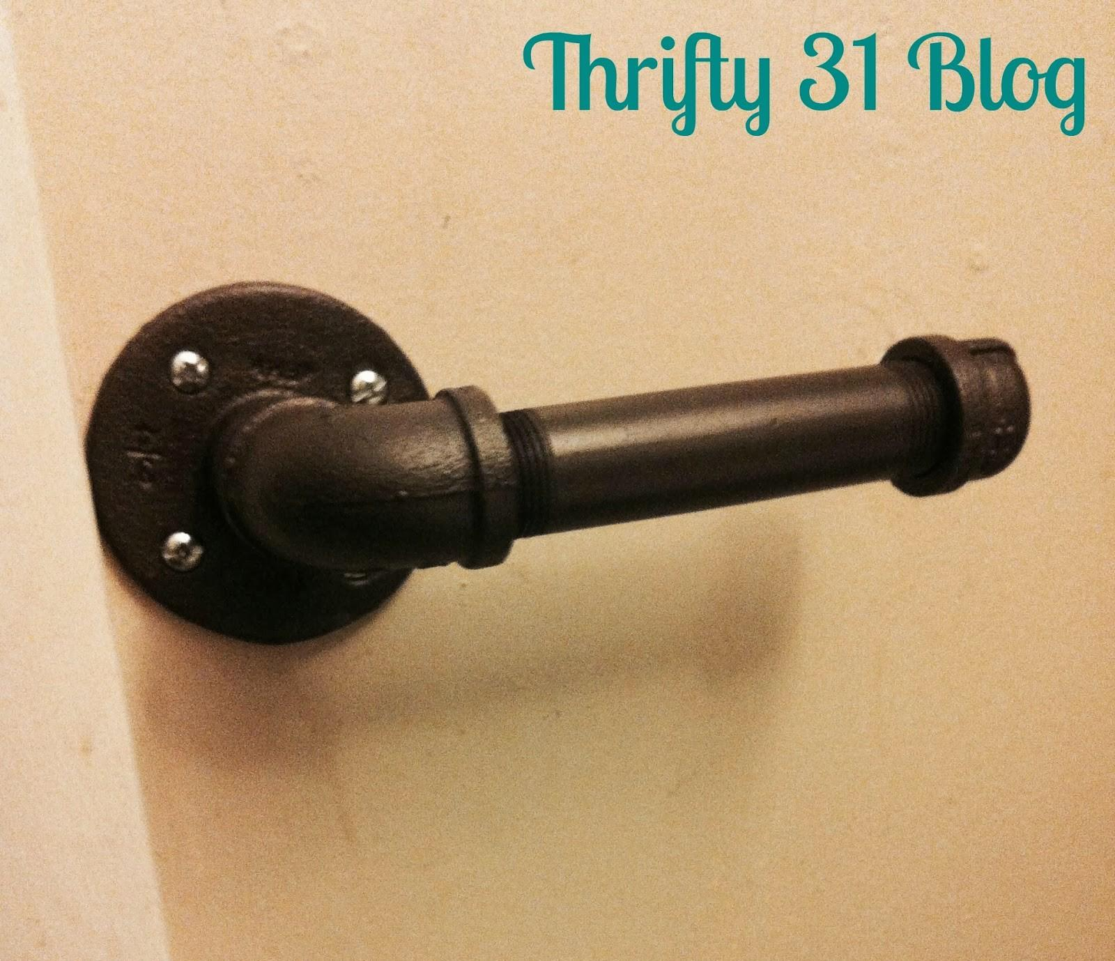 Thrifty Blog Rustic Industrial Toilet Paper Holder