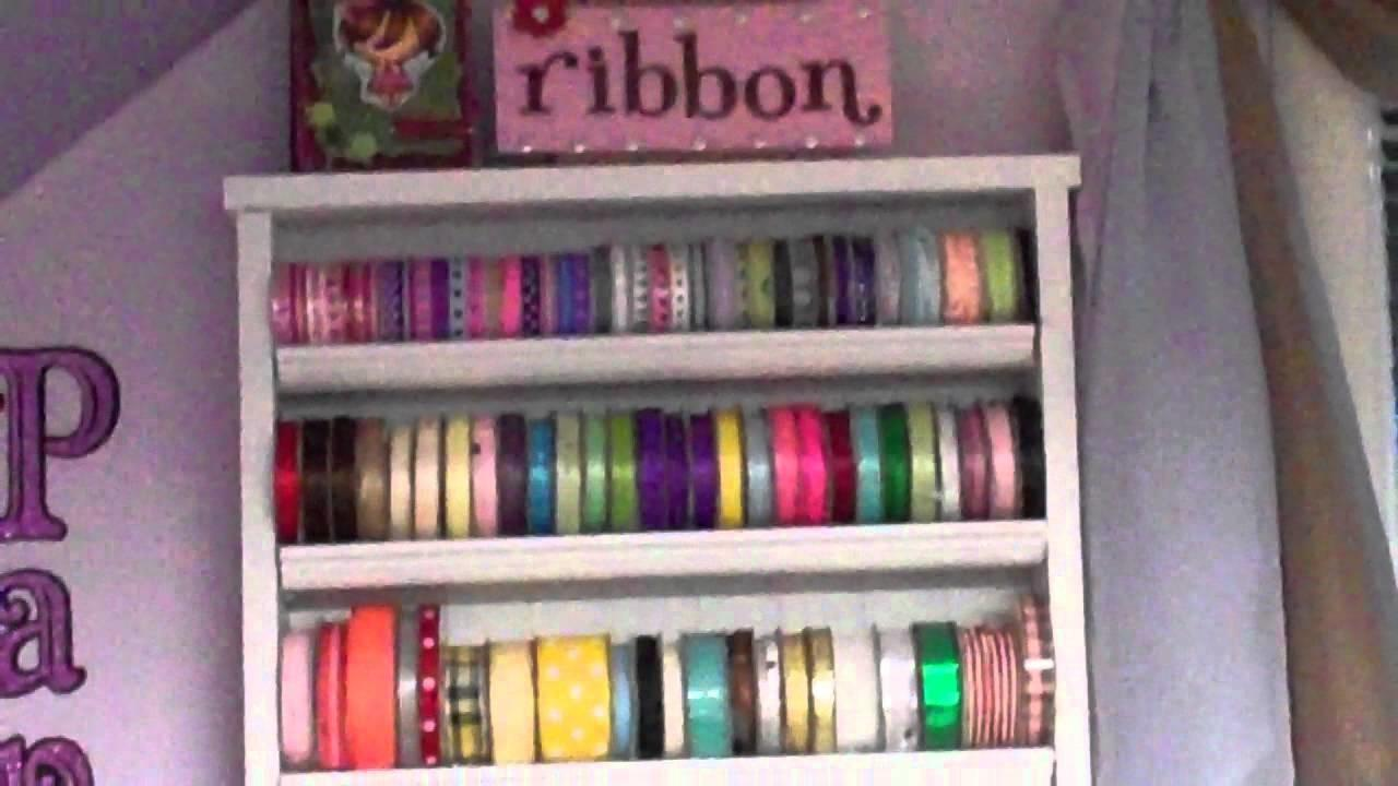 Thrifty Crafter Tip Make Your Own Ribbon Rack