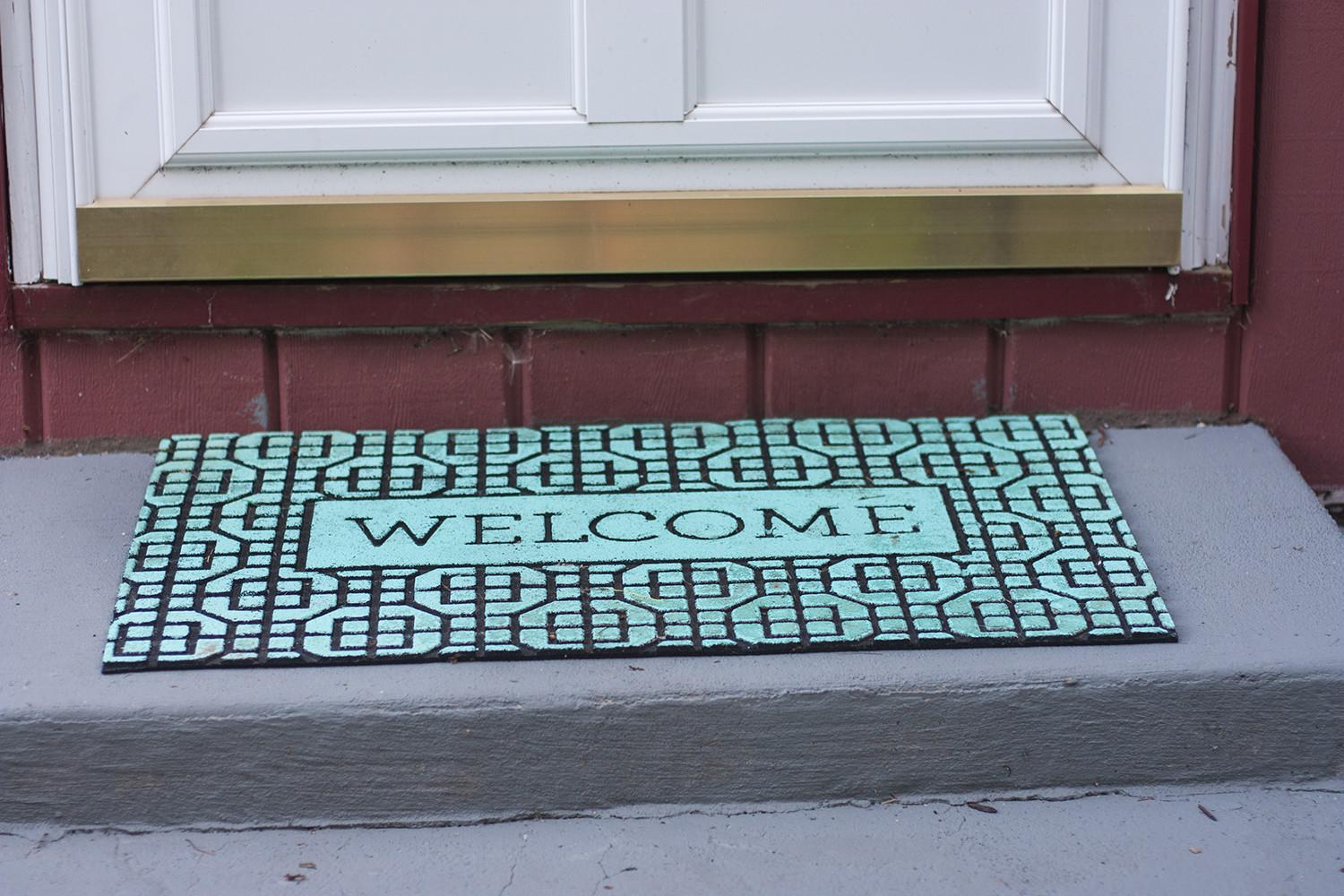 Thrifty Diy Painted Welcome Mat Small Stuff Counts