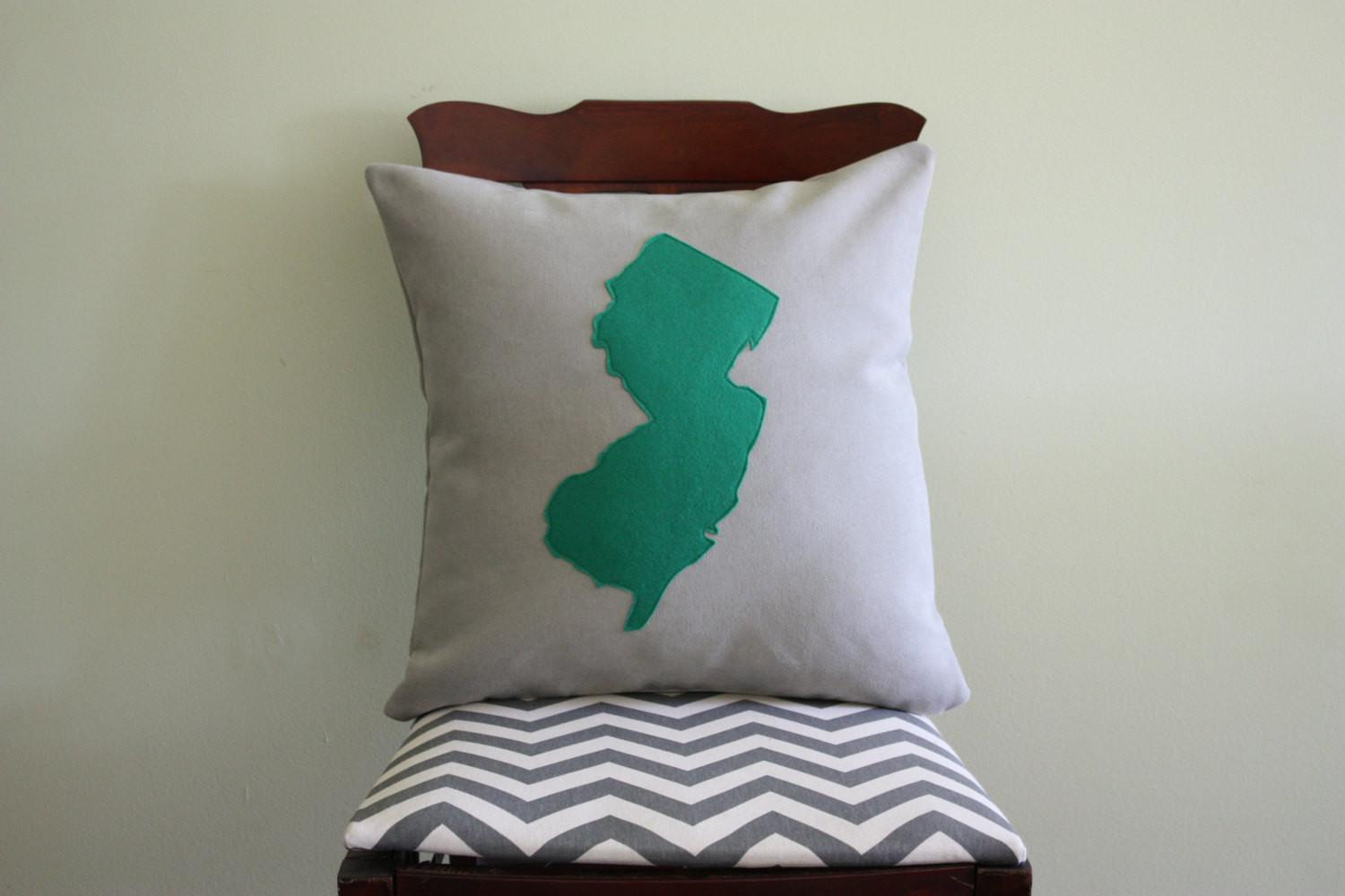 Throw Pillow Map Moving Away Gift New House State