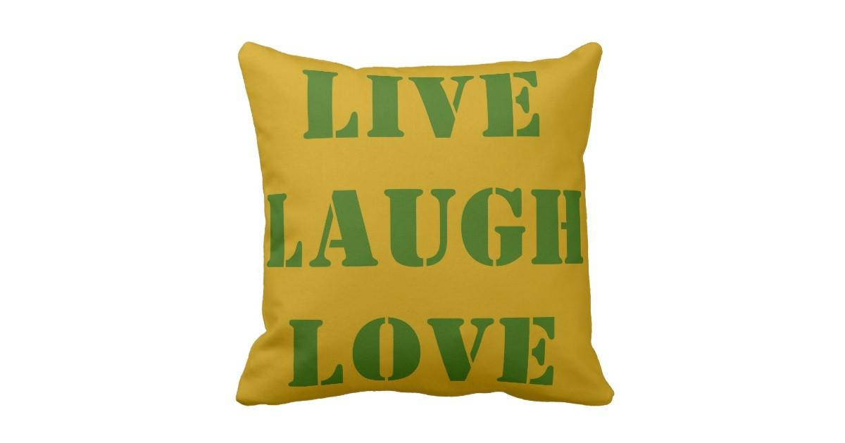 Throw Pillows Live Love Laugh Decor Gifts Zazzle