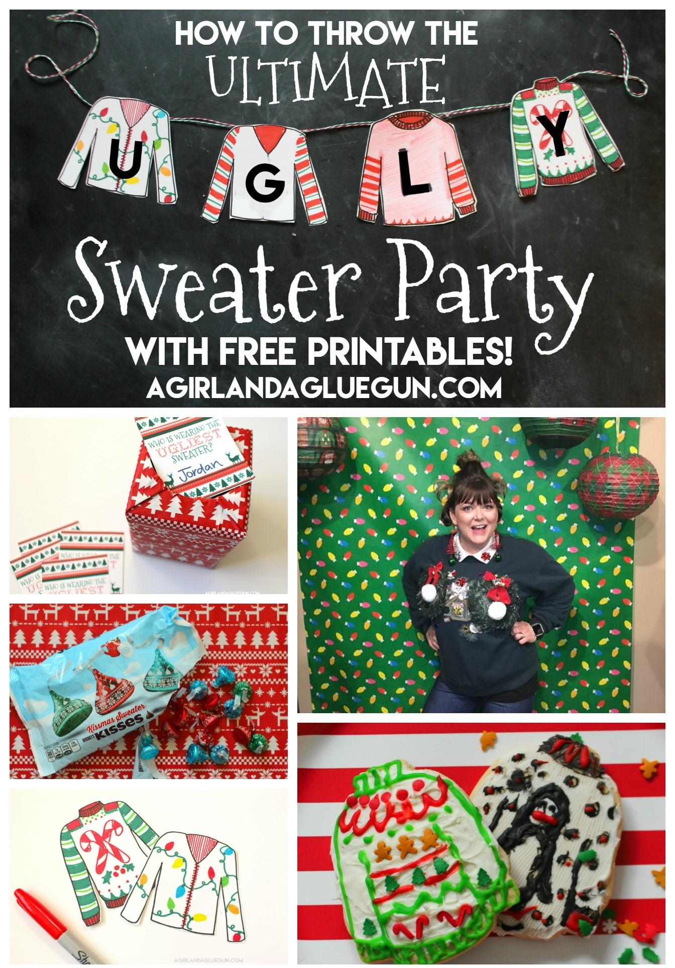 Throw Ultimate Ugly Sweater Party Girl