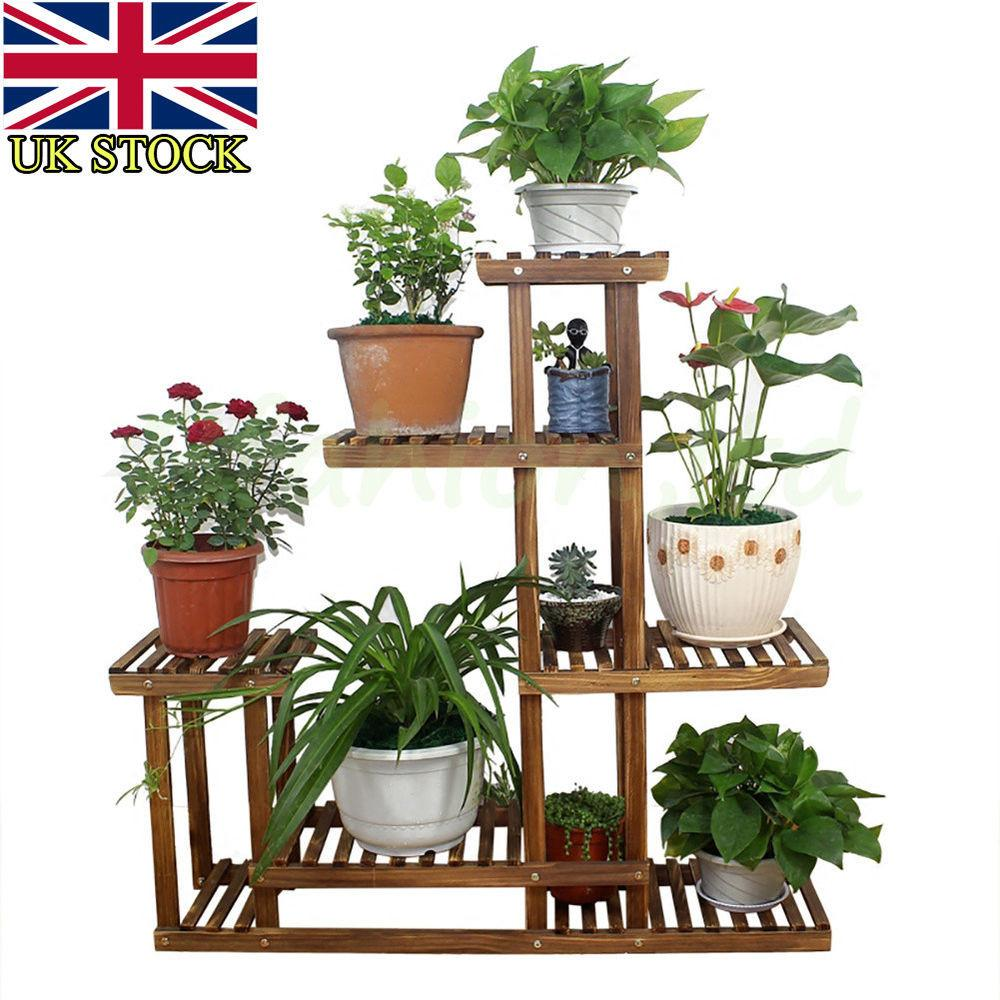 Tier Garden Plant Pot Display Etagere Stand Flower Patio