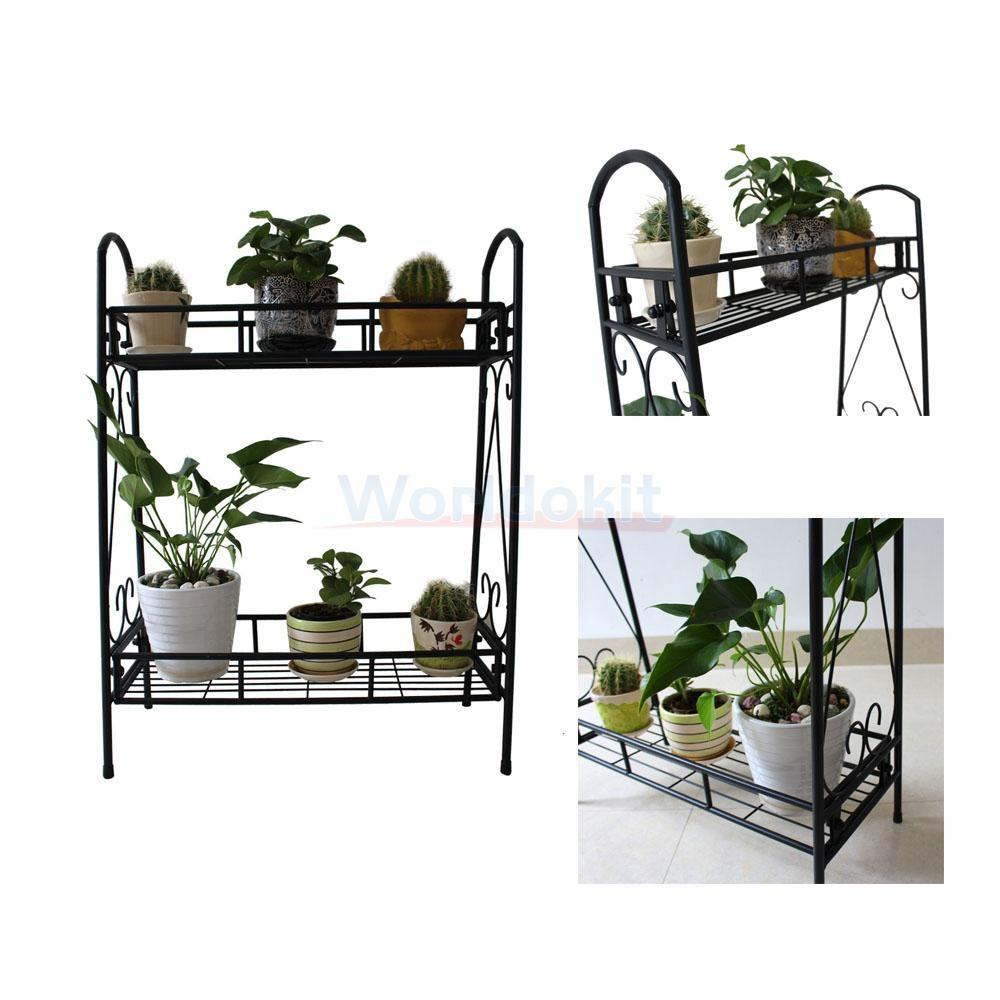 Tier Indoor Outdoor Flower Pots Racks Holder Plant Stand