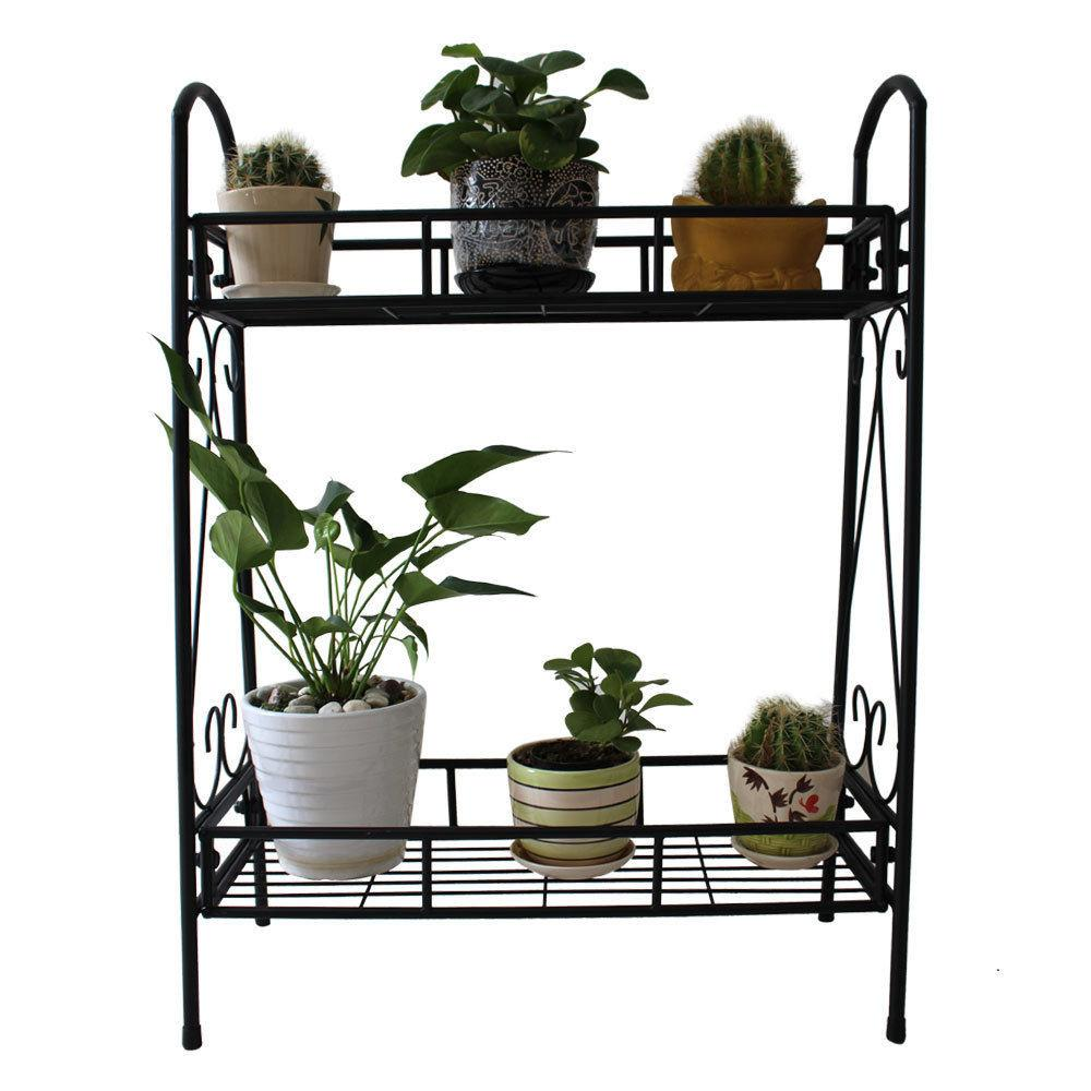 Tier Metal Shelves Indoor Plant Stand Display Flower