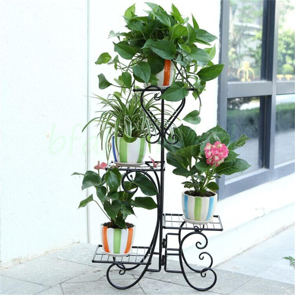 Tier Retro Plant Stand Flower Pot Display Shelf Garden