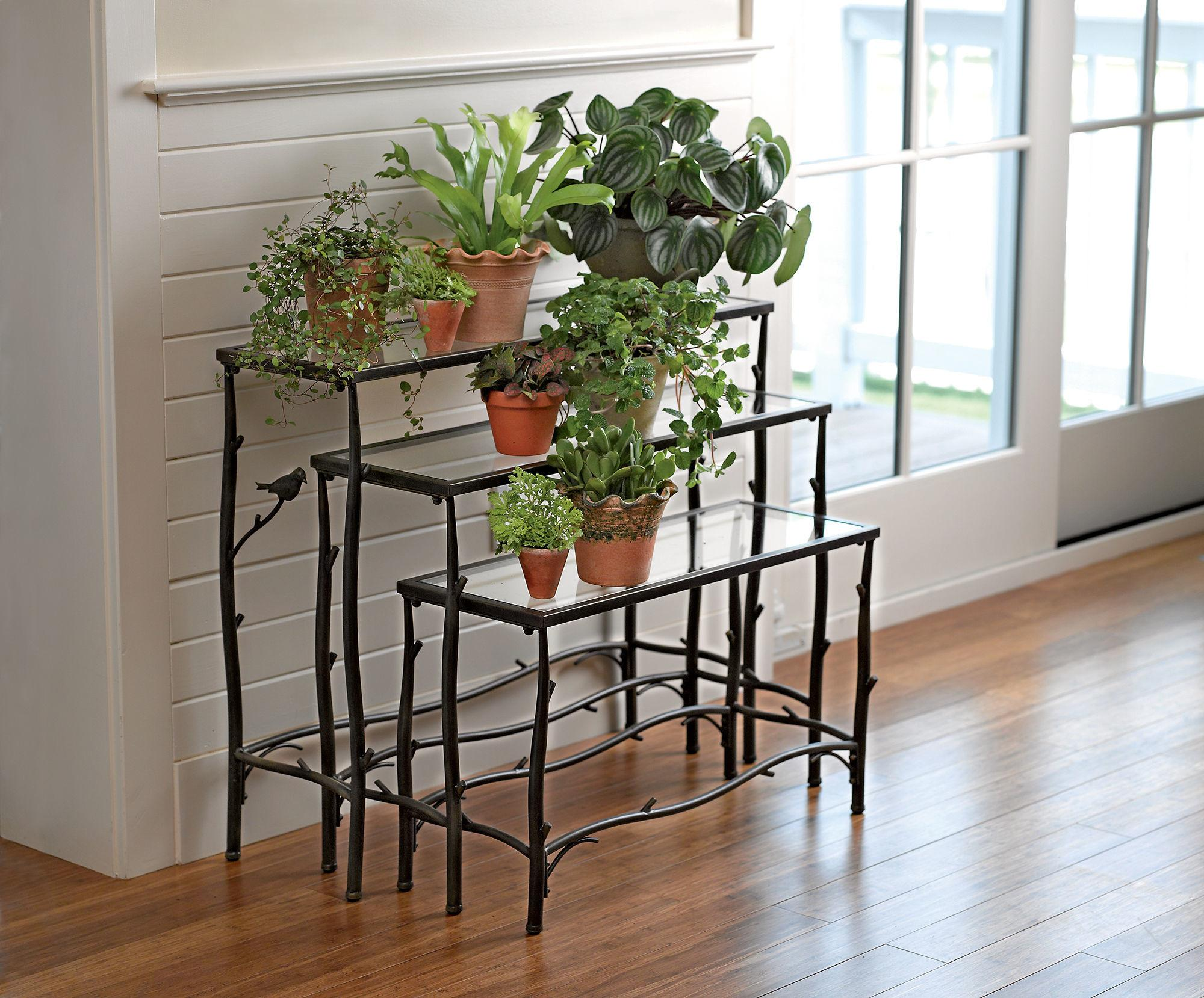 Tiered Plant Stand Metal Set Gardeners