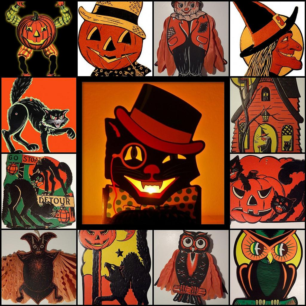 Tilt Vintage Beistle Halloween Decorations Love