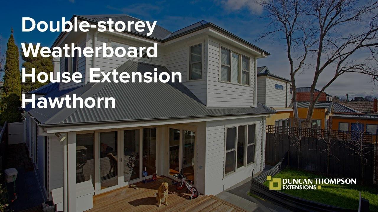 Timelapse Double Storey Weatherboard House Extension
