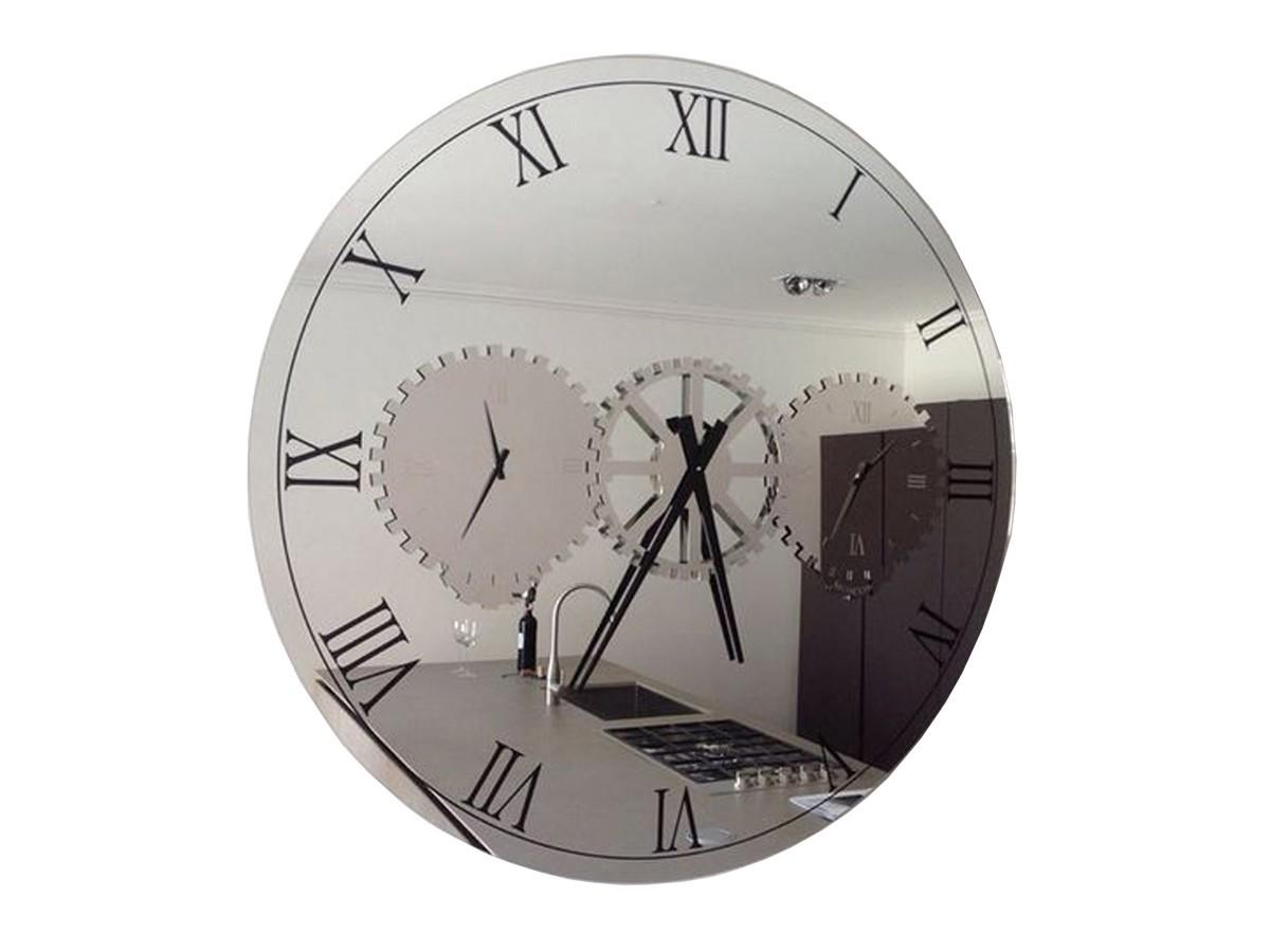 Times Wall Clock Glass Mirror Cattelan Italia