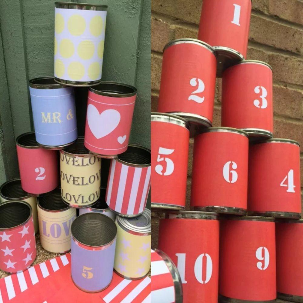 Tin Can Alley Carnival Games X26 Labels Garden