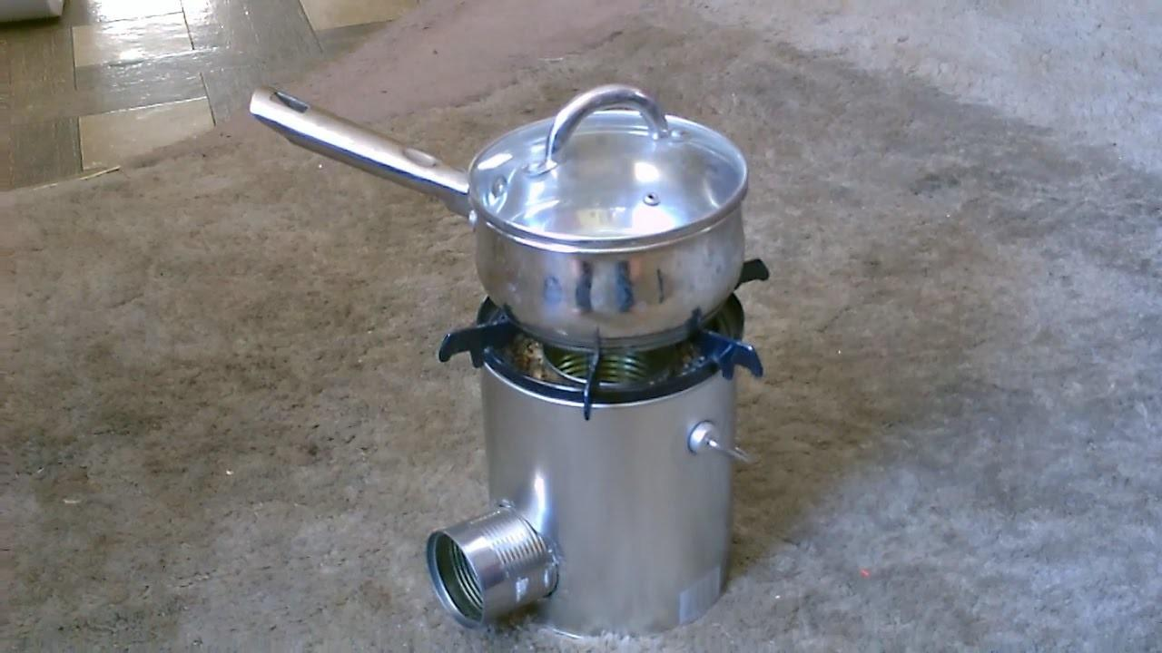 Tin Can Rocket Stove Simple Diy Cooks Great Quick
