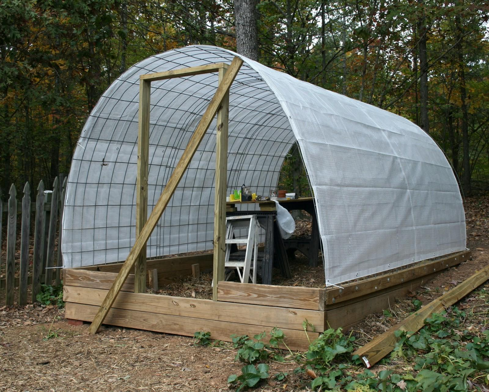 Tiny Homestead Building Permanent Greenhouse