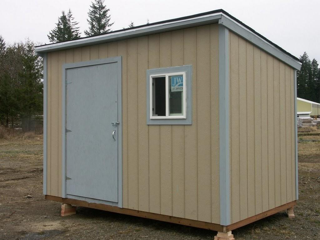 Tiny House Work Shed Beige Painting Metal Sheds Kids