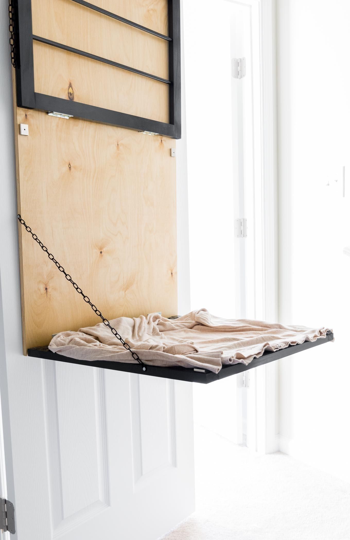 Tiny Laundry Nook Pull Down Door Mounted