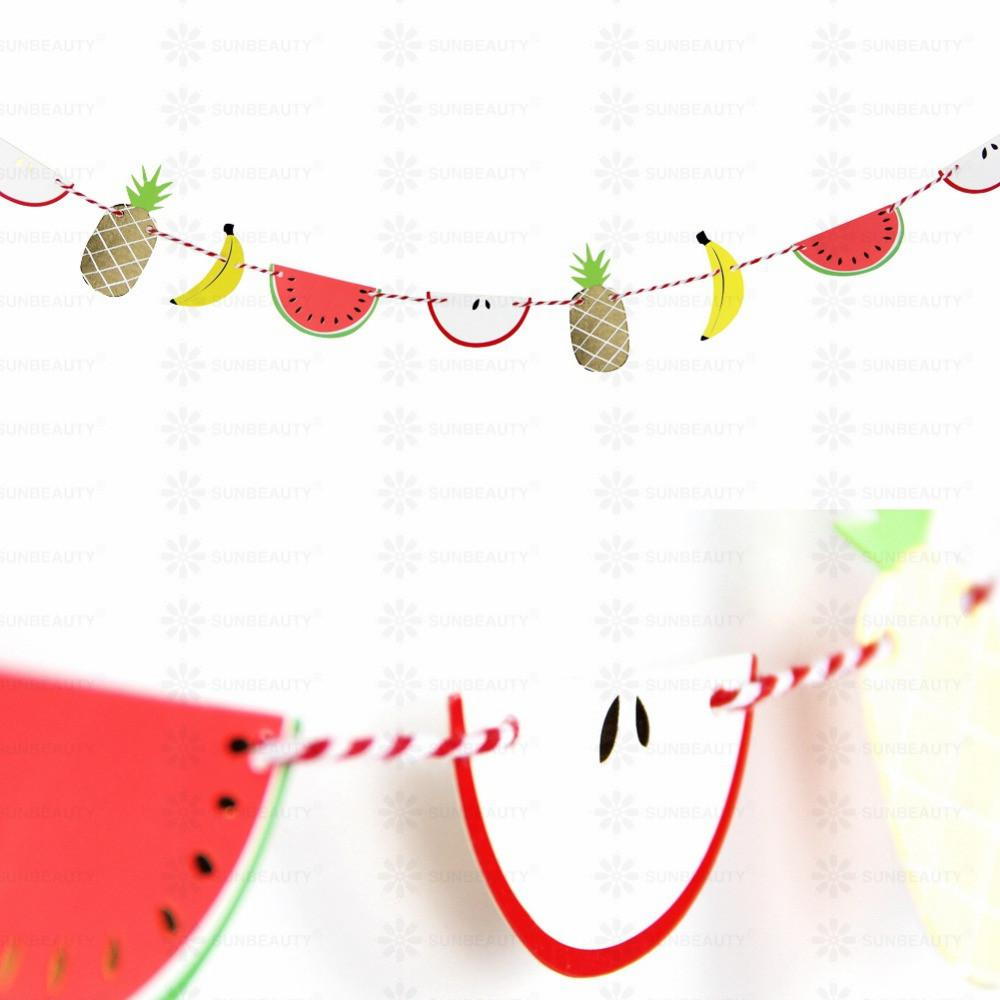 Tiny Paper Fruit Garland Summertime Bunting