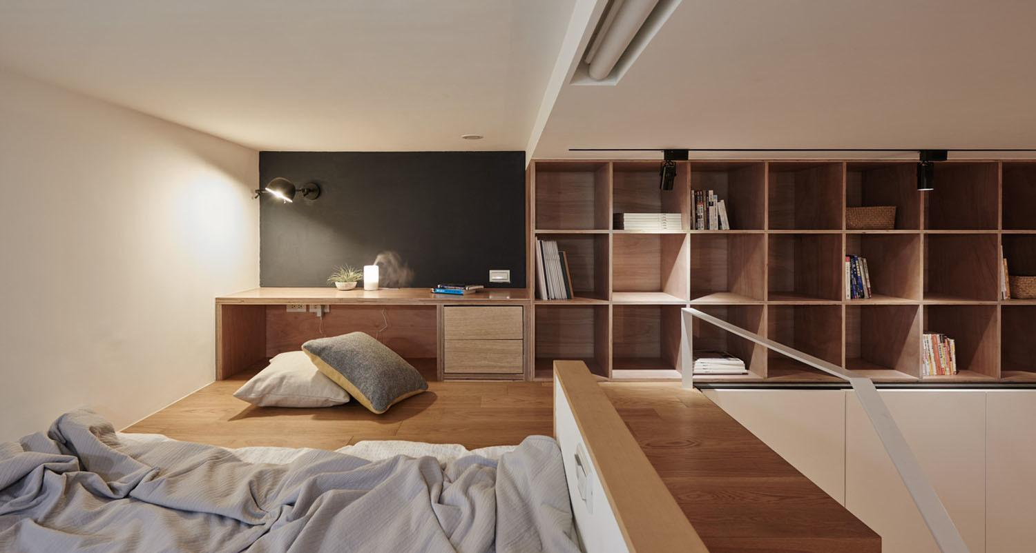 Tiny Studio Apartment Taipei City Sleeping Loft