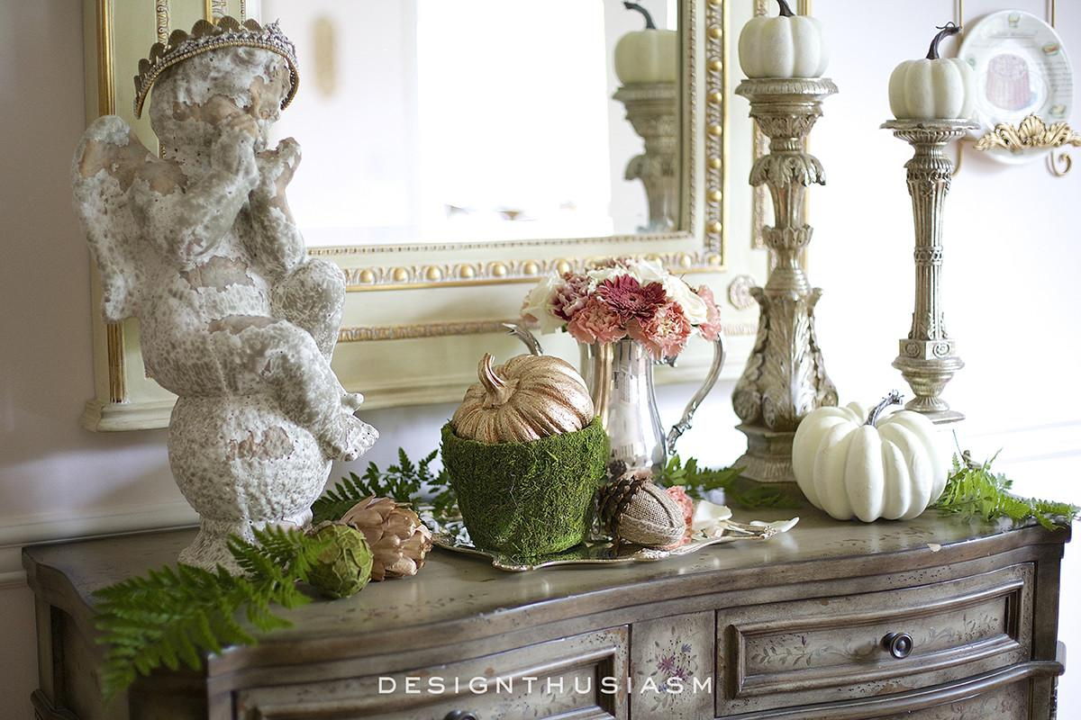 Tips Creating Fall Vignette Dining Room