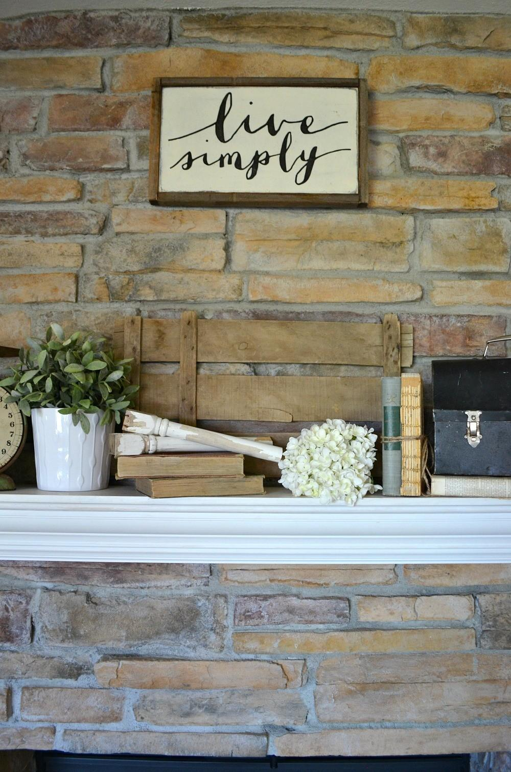 Tips Decorating Mantel Little Vintage Nest