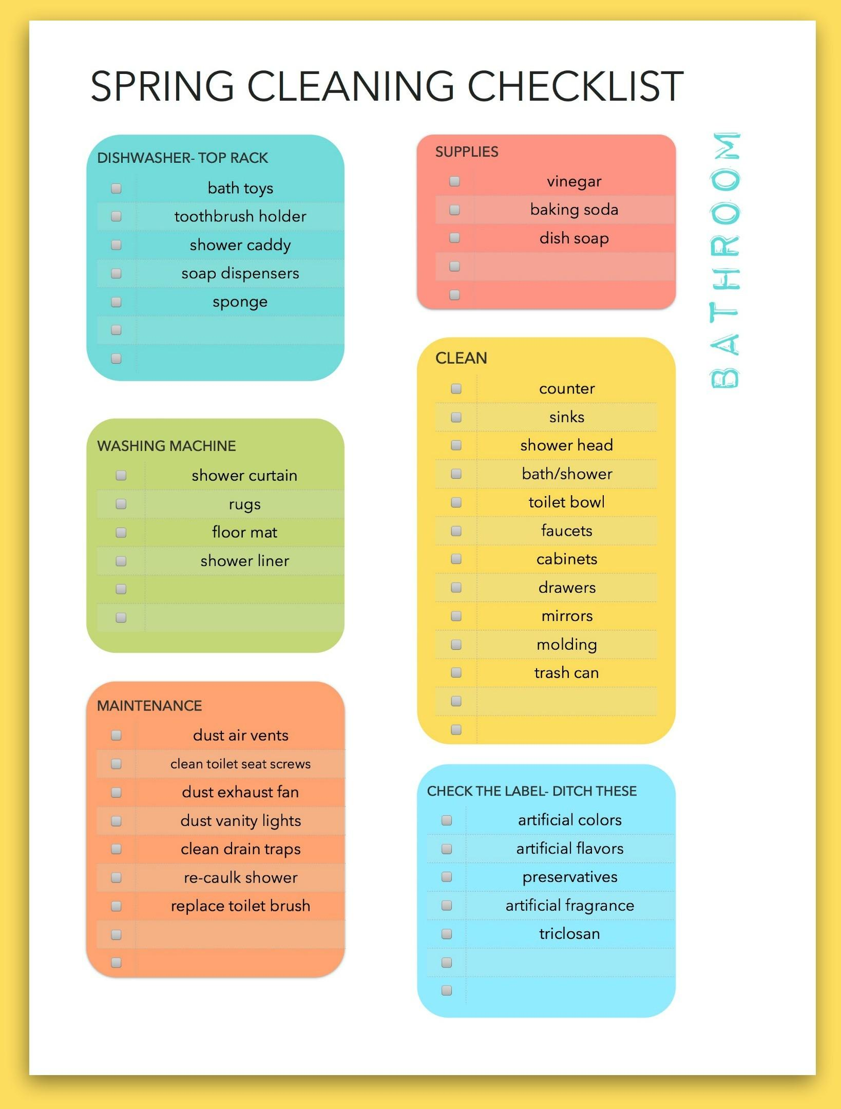 Tips Greener Spring Cleaning Checklist Eclectic