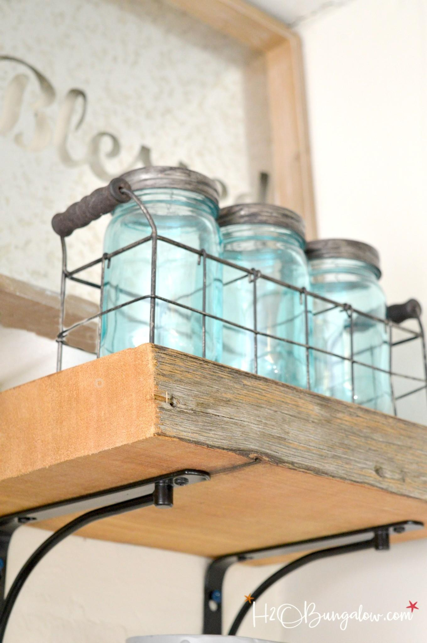 Tips Hanging Thick Wood Shelves H20bungalow