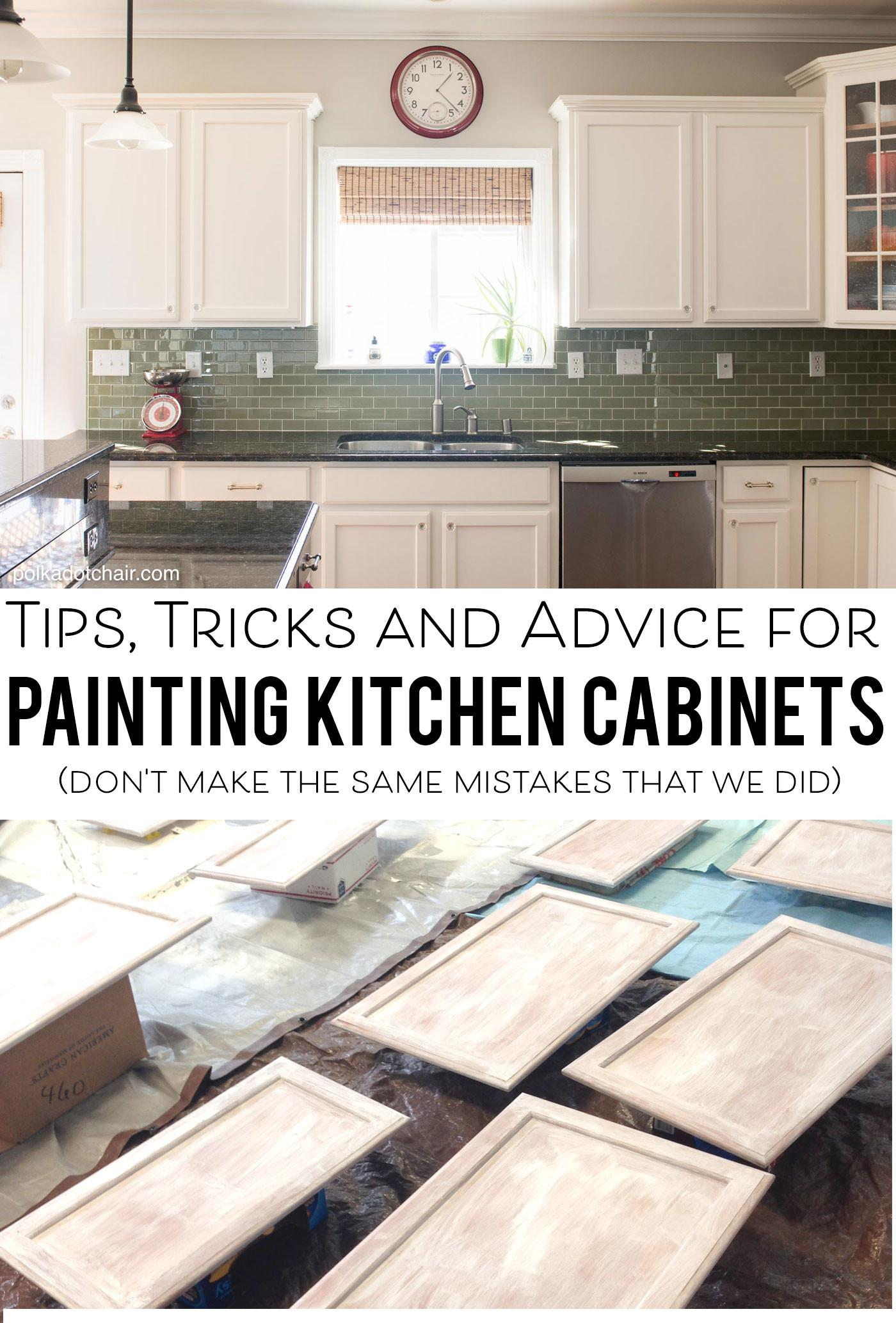 Tips Painting Kitchen Cabinets Polka Dot Chair