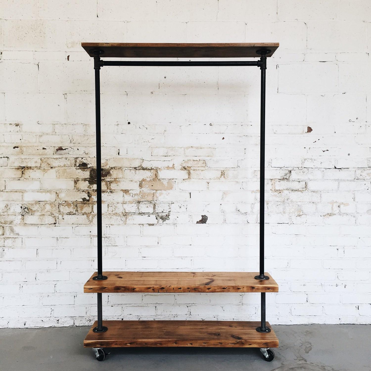 Tips Tricks Creative Industrial Clothing Rack