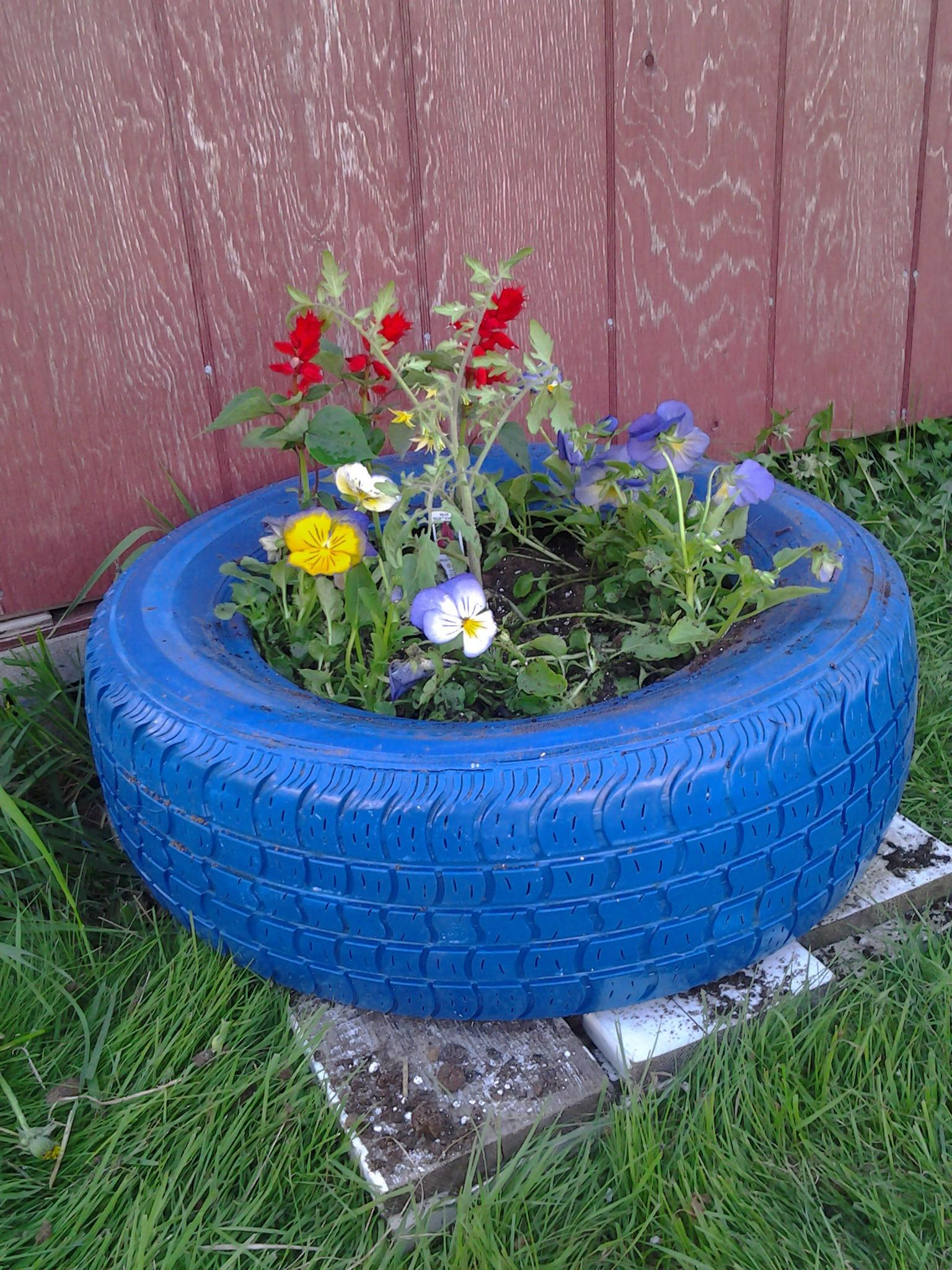 Tire Planters Diy Instructions Guide Patterns