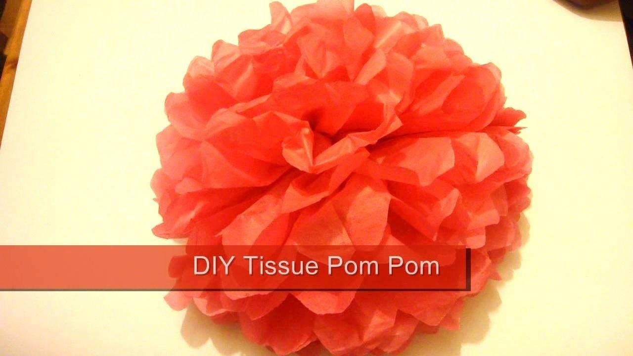 Tissue Pom Make Paper Poms Wedding