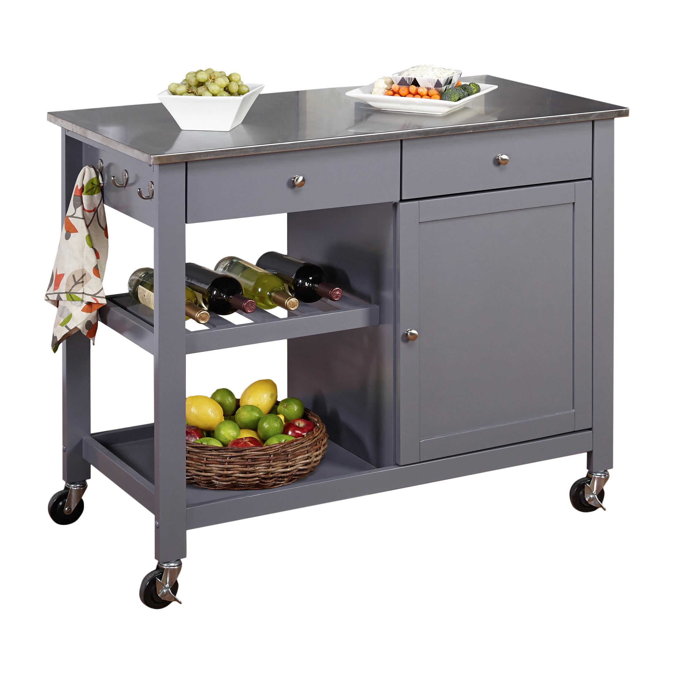 Tms Columbus Kitchen Island Stainless Steel Top