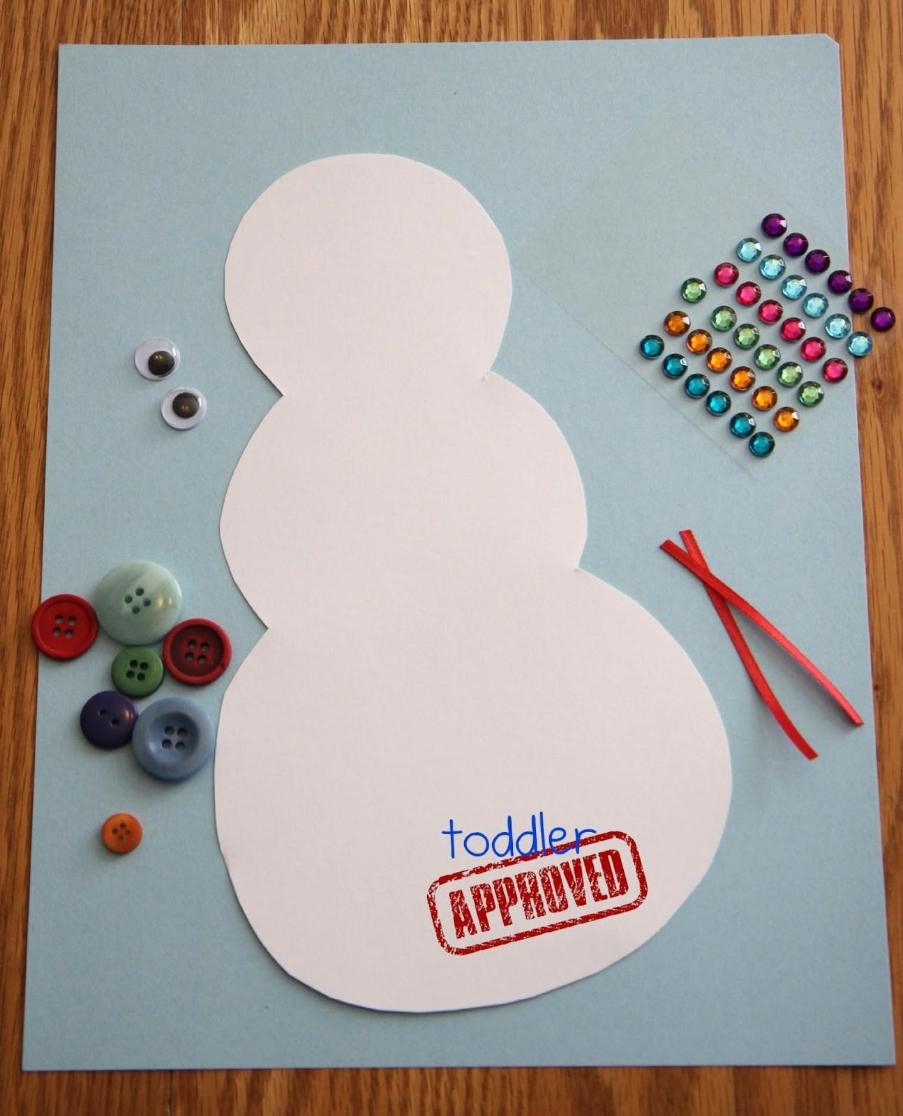 Toddler Approved Button Snowman Craft